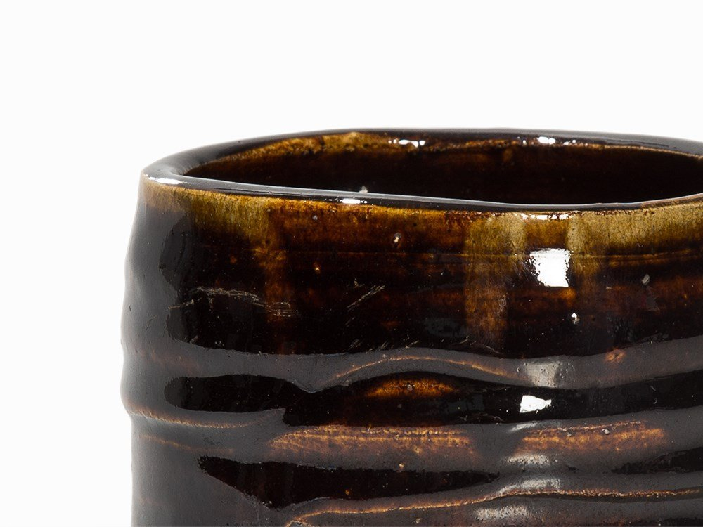 Kitaoji Rosanjin, Tea Bowl, Black Oribe, Japan, c. 1940 - 3