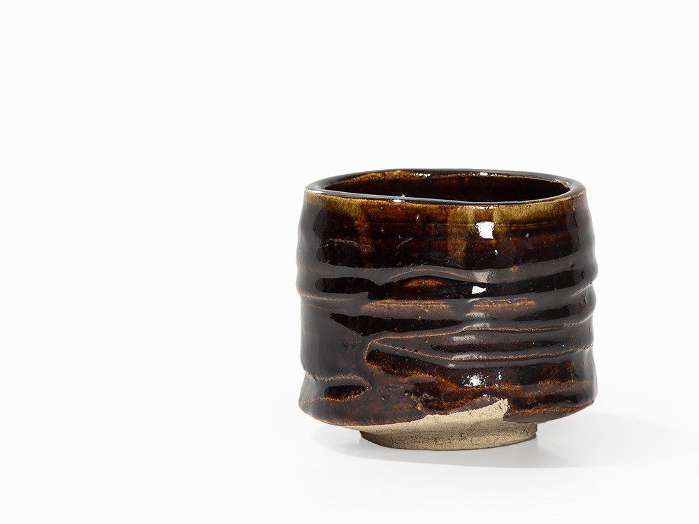 Kitaoji Rosanjin, Tea Bowl, Black Oribe, Japan, c. 1940 - 4
