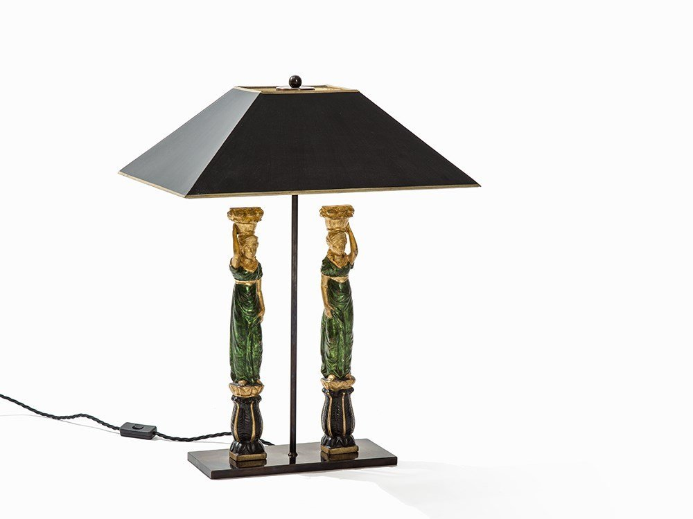 Figural Table Lamp with Couple, Italy, c. 1970