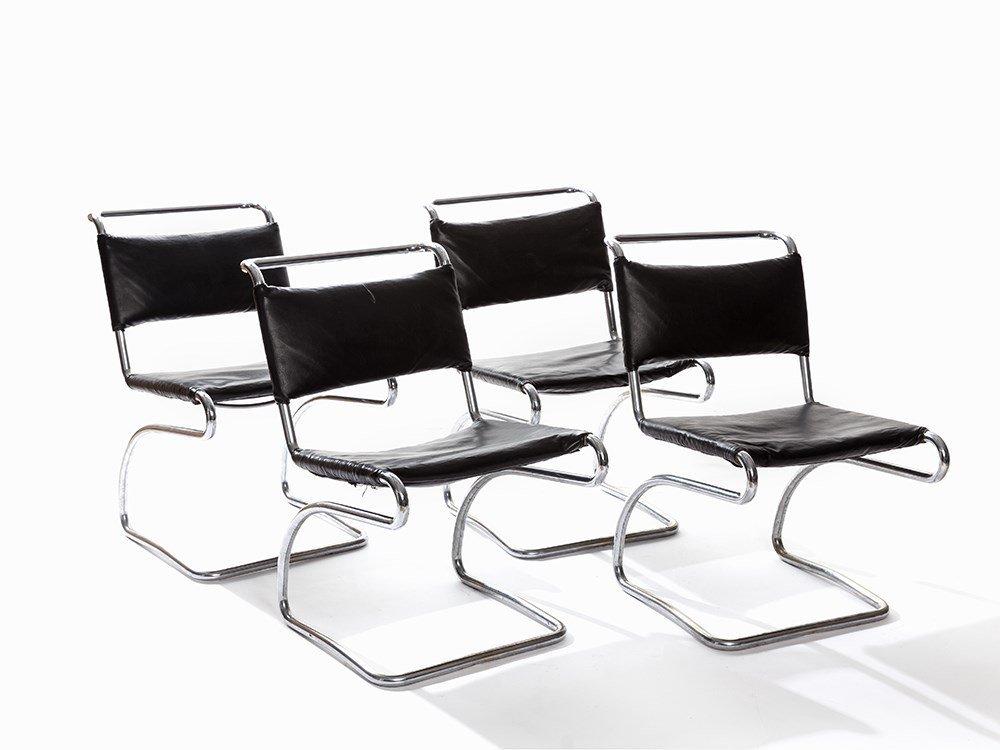 4 Halabala Chairs H-79, Czechoslovakia
