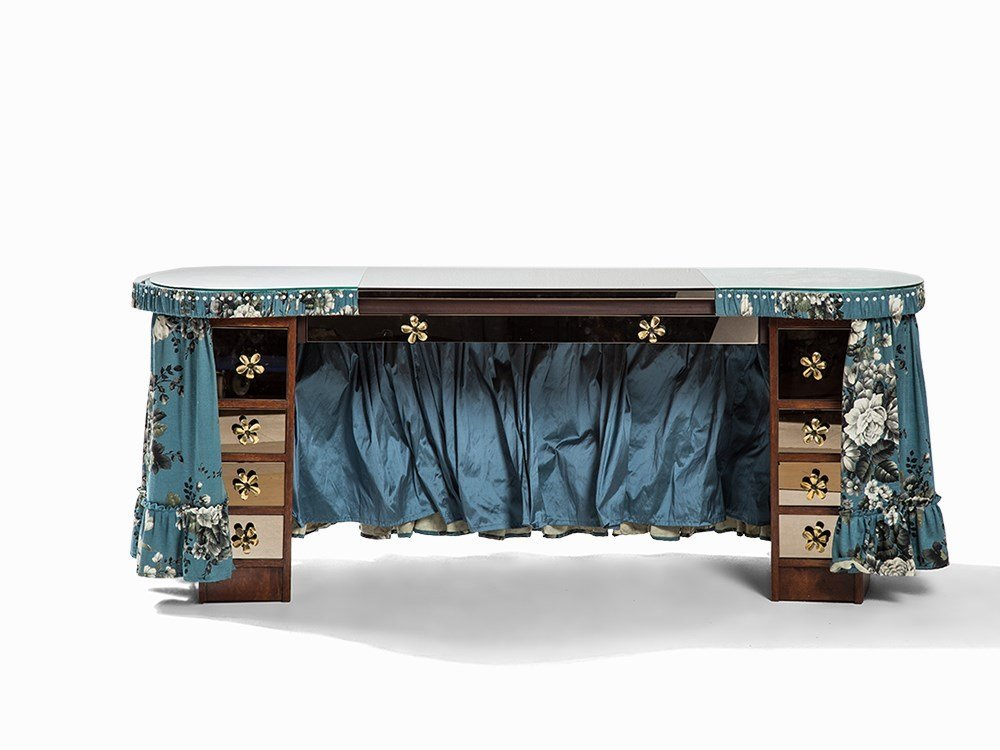A Dressing Table with Fabric Cover, Germany, 20th