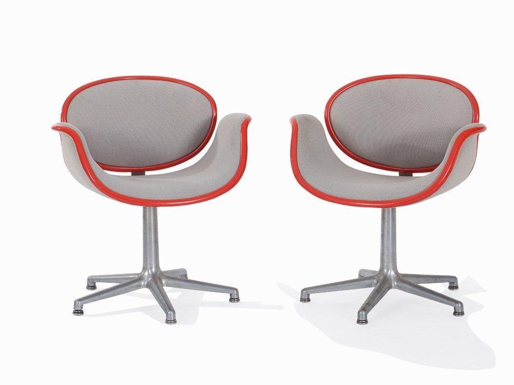 Pierre Paulin, Pair Lounge Chair 'Little Tulip',