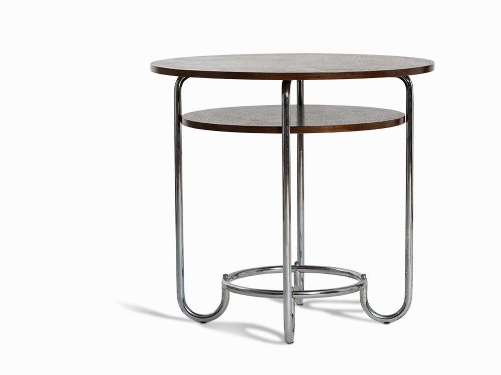 Side Table, Steel Pipe, Germany, 2nd Q. 20th C.