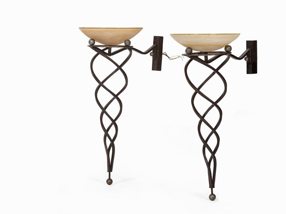 Terzani, A Pair of Wall Lamps Antinea, Italy, 1989