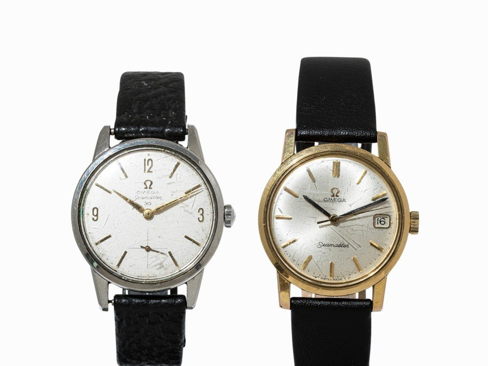 Set of two Omega Seamaster watches, c. 1960 and c. 1964