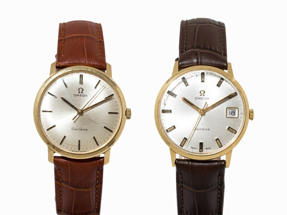 Set of 2 Omega watches, c. 1967 and 1969