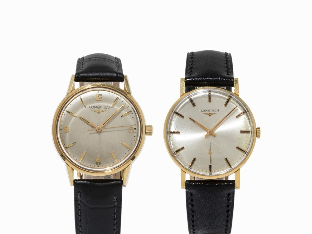 Two Longines watches, Ref. 103, Ref. 461, c. 1959 and