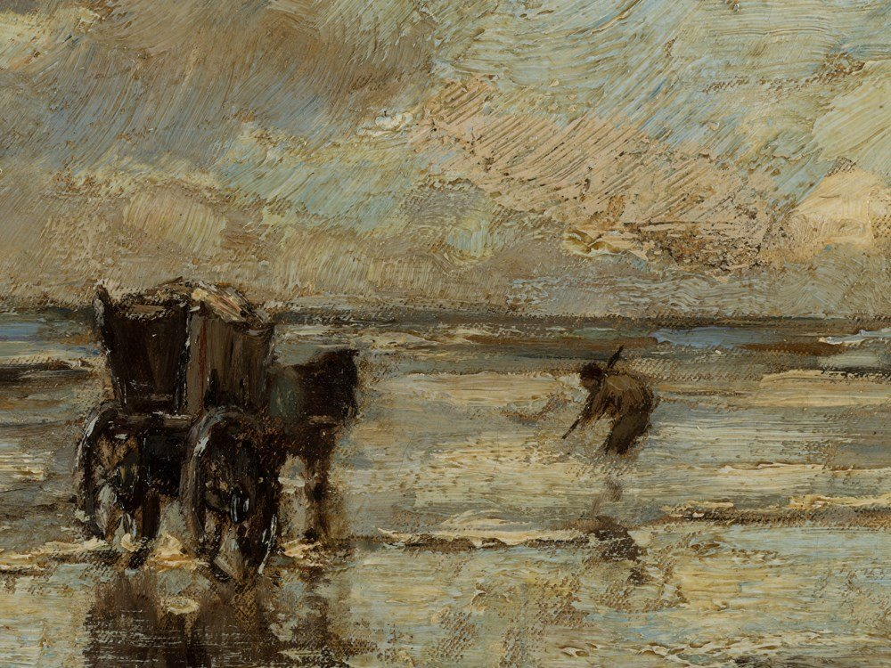 Ludwig Munthe, The Mussel Fishermen, Oil, Late 19th C.