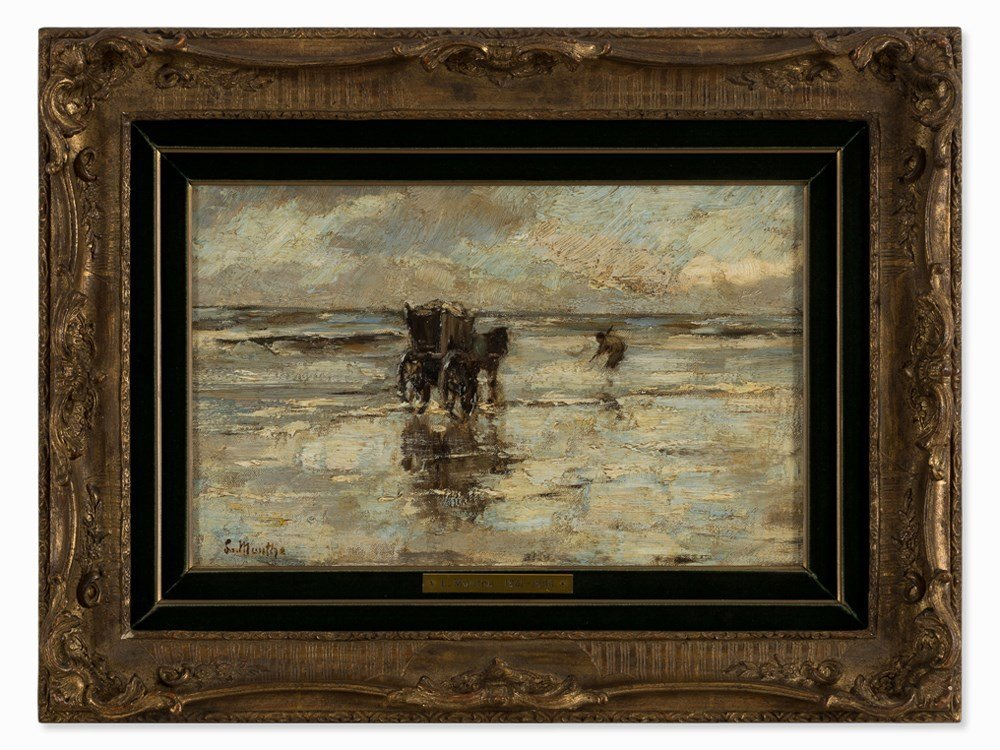 Ludwig Munthe, The Mussel Fishermen, Oil, Late 19th C. - 2