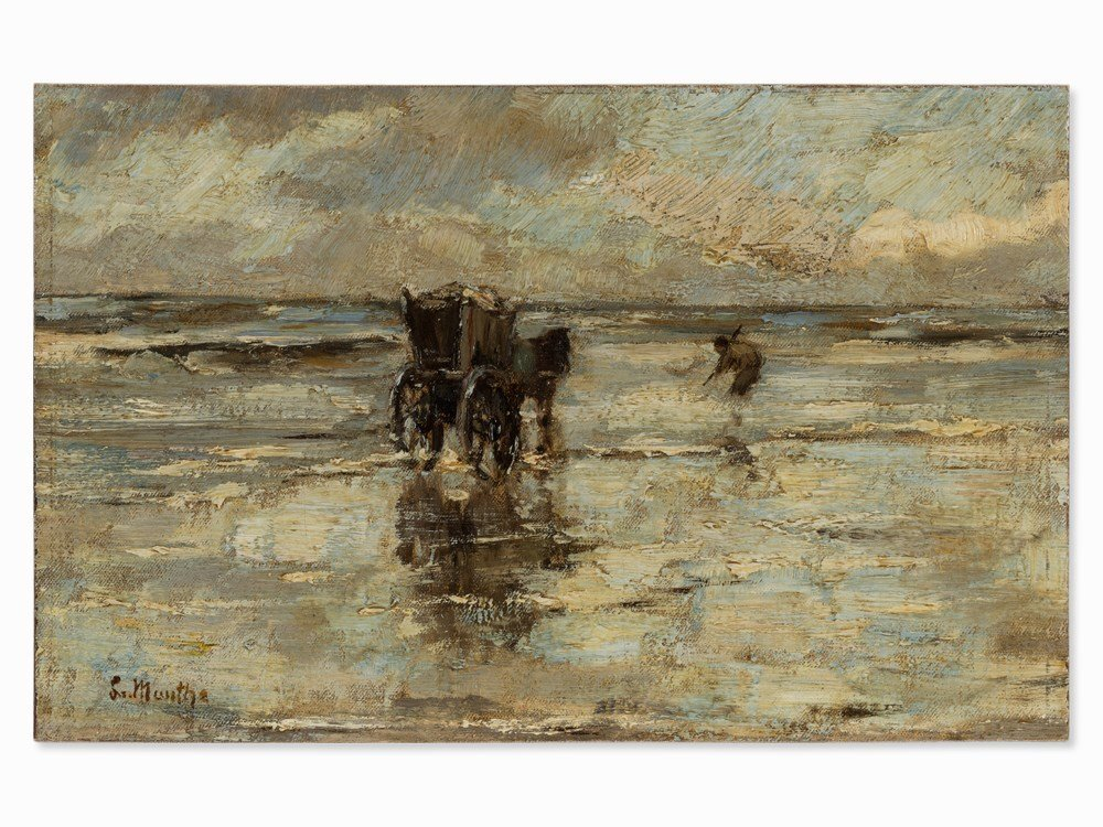 Ludwig Munthe, The Mussel Fishermen, Oil, Late 19th C. - 3
