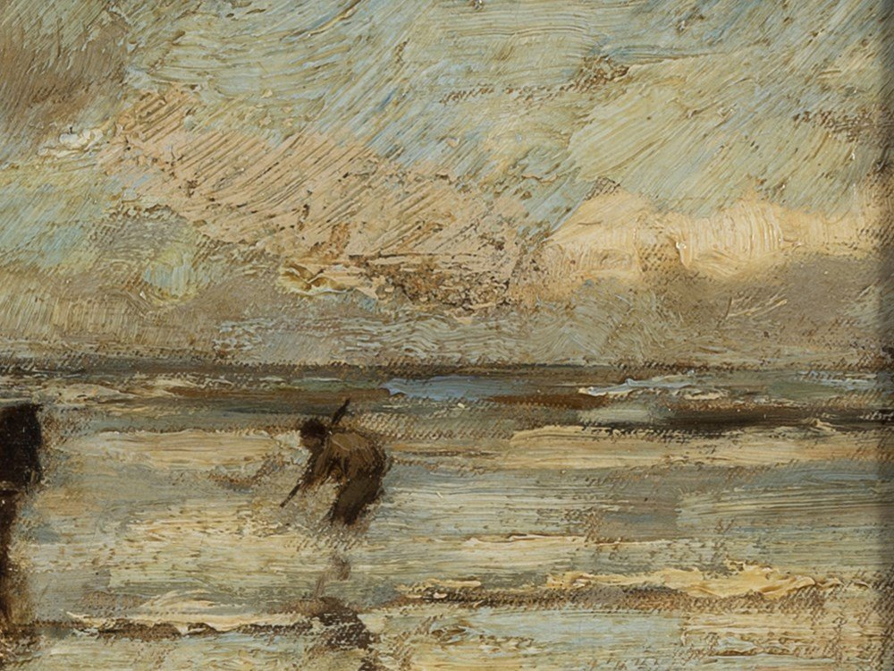 Ludwig Munthe, The Mussel Fishermen, Oil, Late 19th C. - 5