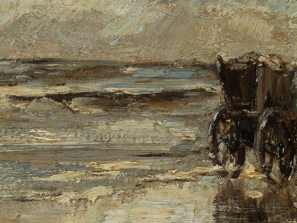 Ludwig Munthe, The Mussel Fishermen, Oil, Late 19th C. - 6