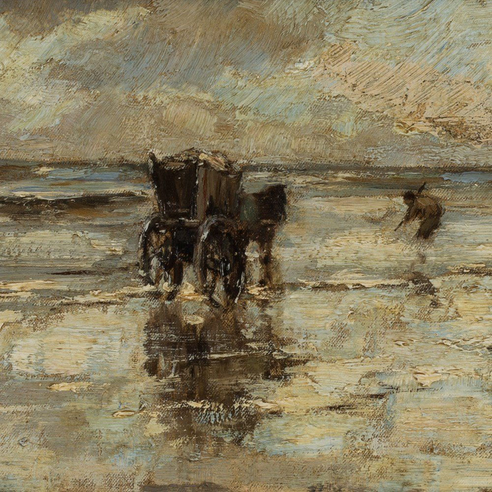 Ludwig Munthe, The Mussel Fishermen, Oil, Late 19th C. - 9