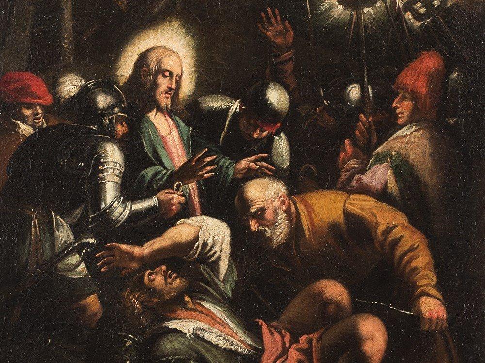 Arrest of Christ,Copy after J. Bassano,Oil, 17/18th