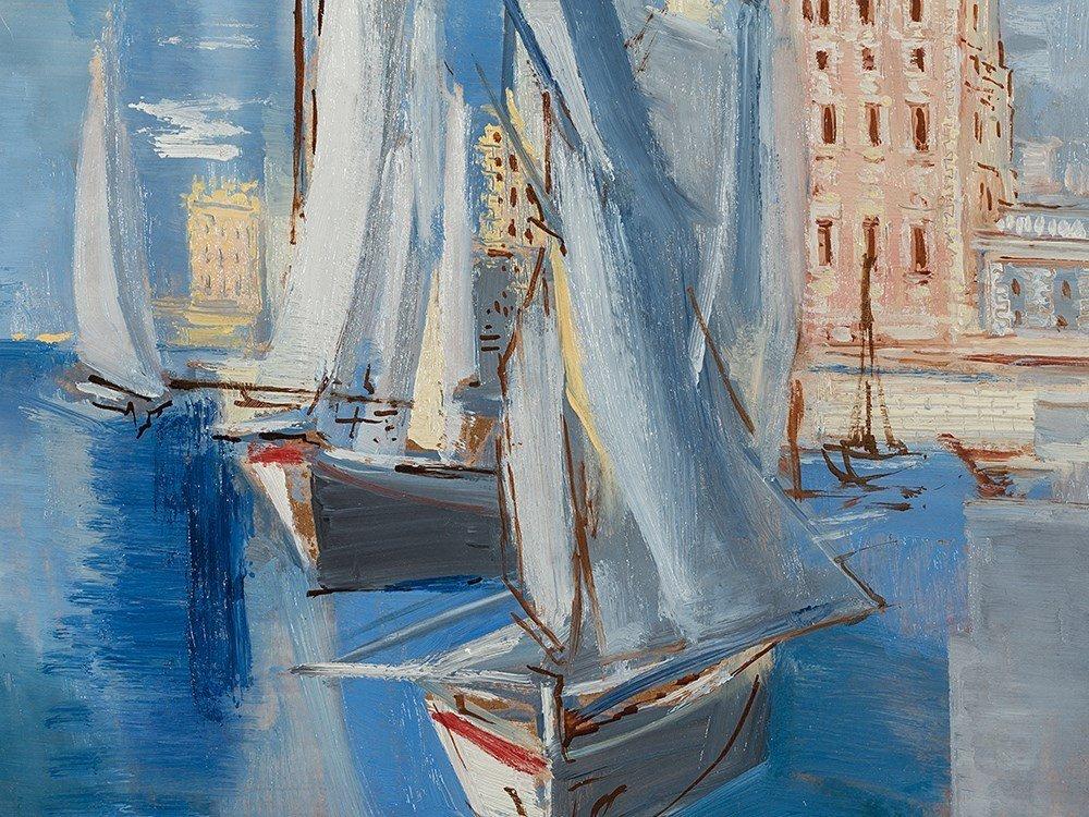 Ismaël de la Serna, Seascape, Oil Painting, 1957