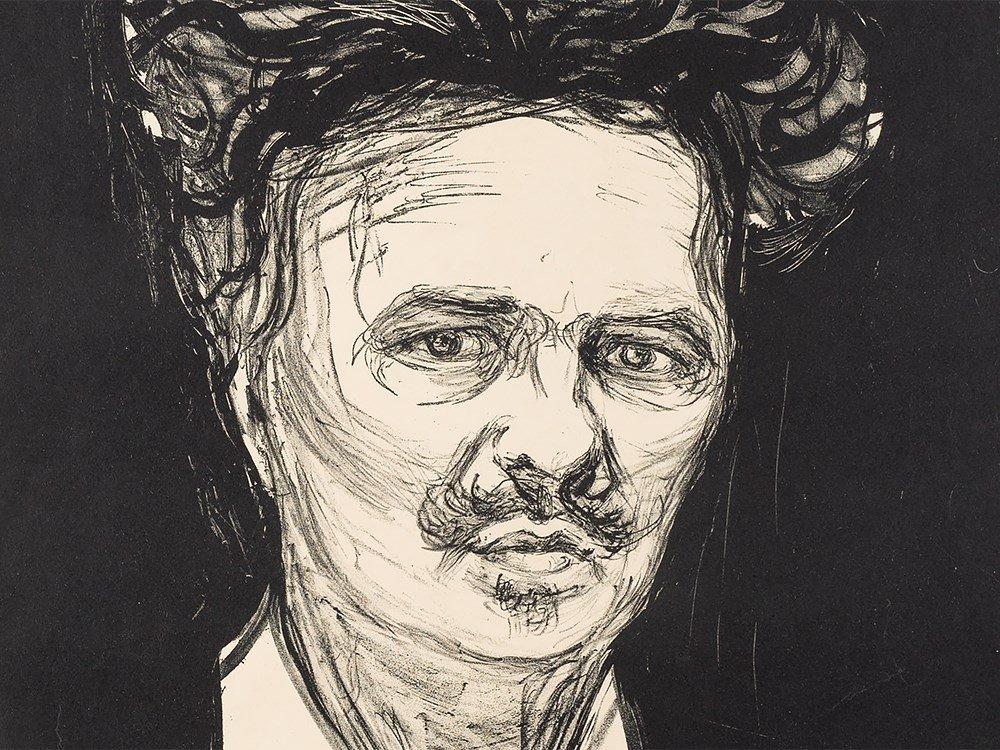 Edvard Munch, August Strindberg, Lithograph, 1896