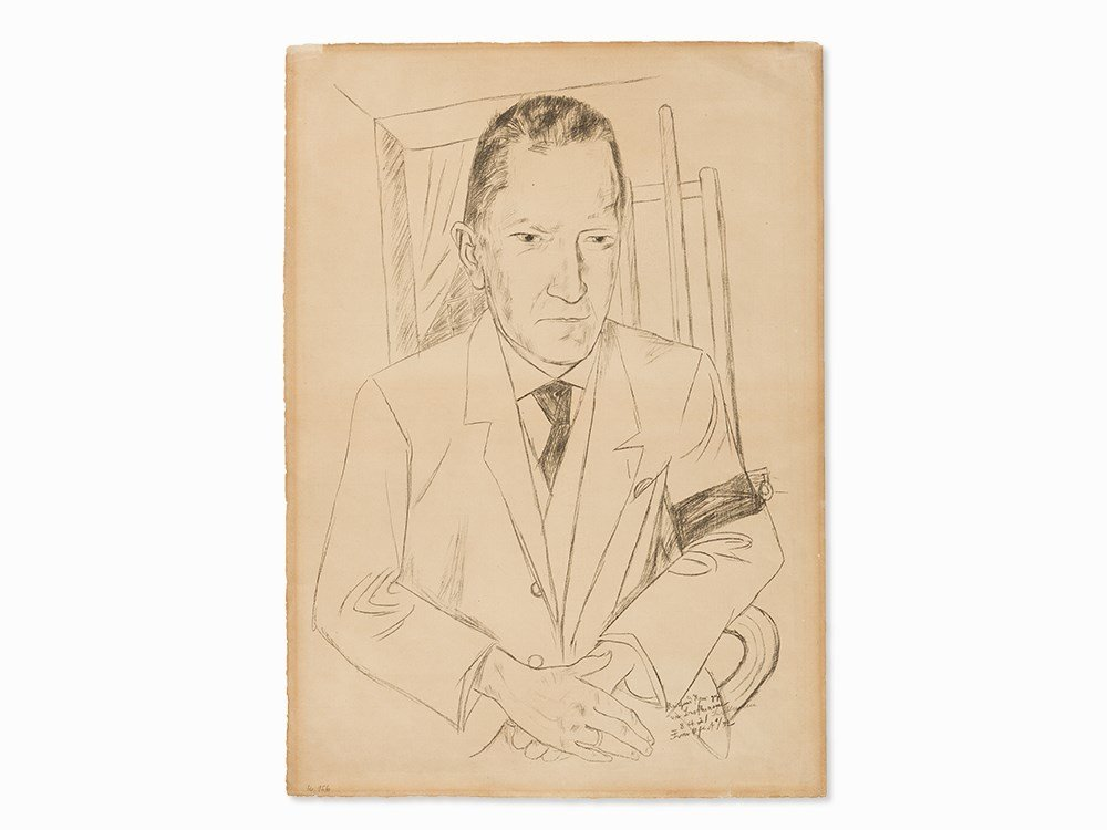 Max Beckmann, Portrait of Reinhard Piper, Lithograph,