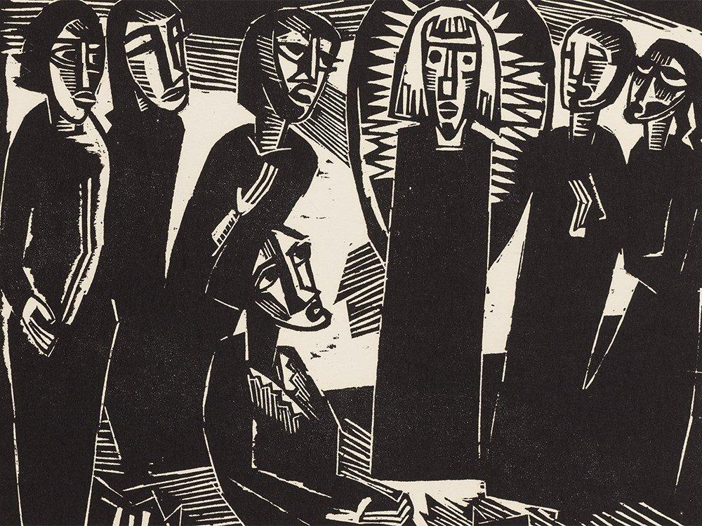 K. Schmidt-Rottluff, Kristus (Christus) unter den