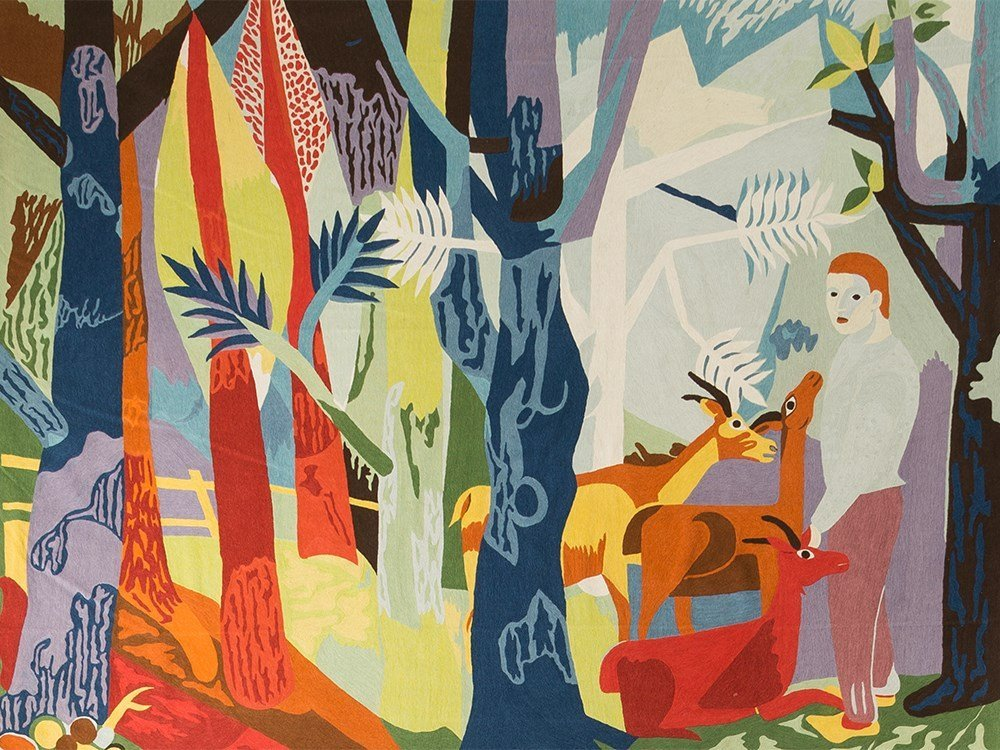 In The Forest, Tapestry after Heinrich Campendonk,1980