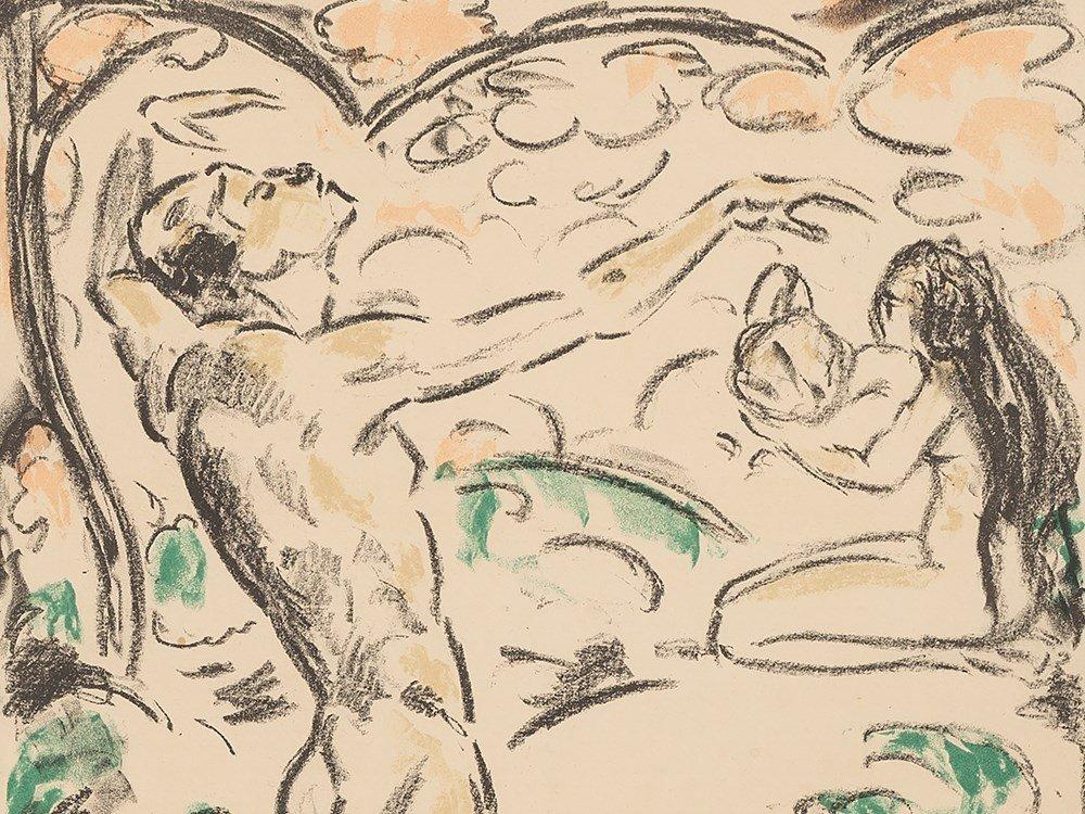 Cuno Amiet, Der entzückte Jüngling, Lithografie, 1915