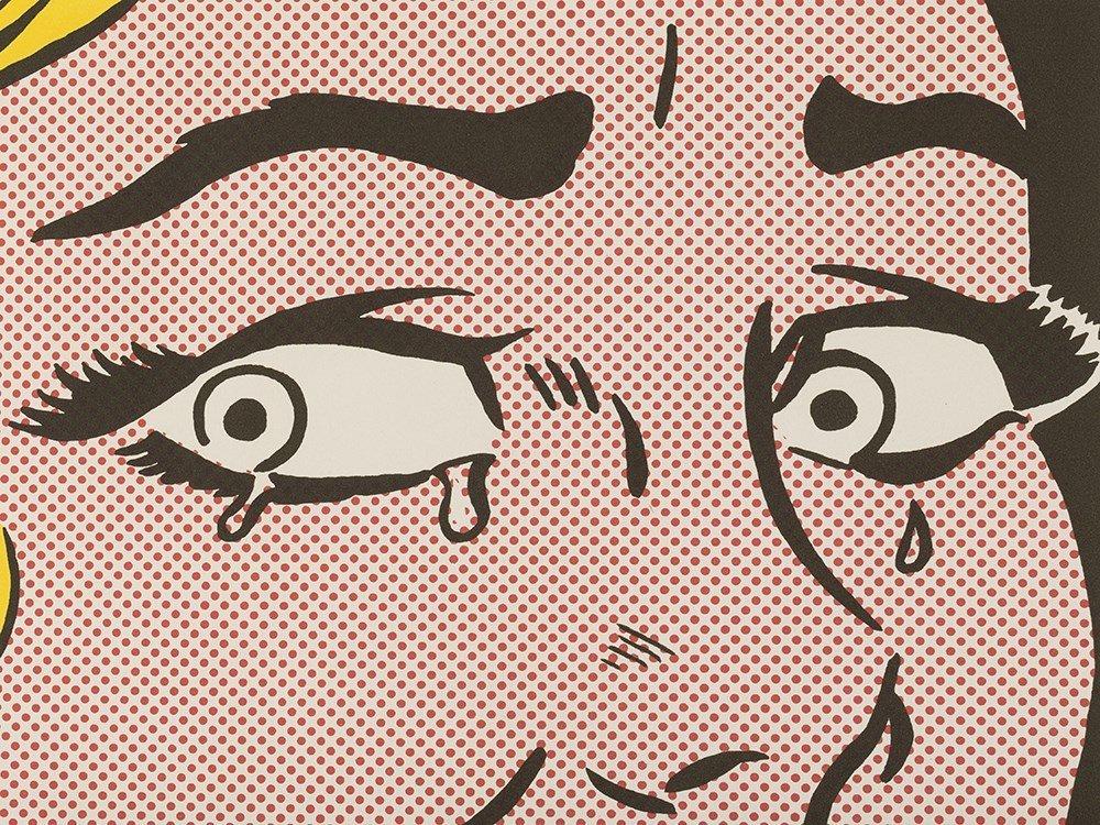 Roy Lichtenstein, Crying Girl, Offset Lithograph in - 7