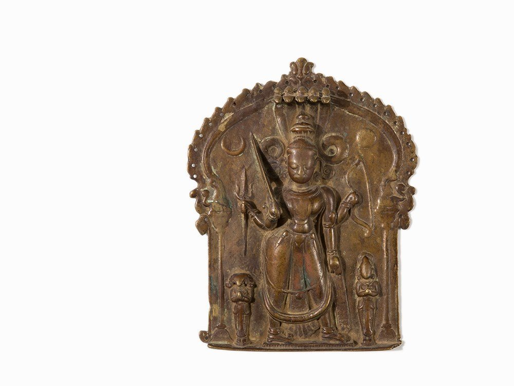 Bronze Relief with Depiction of Shiva, India, 18th/19th - 2