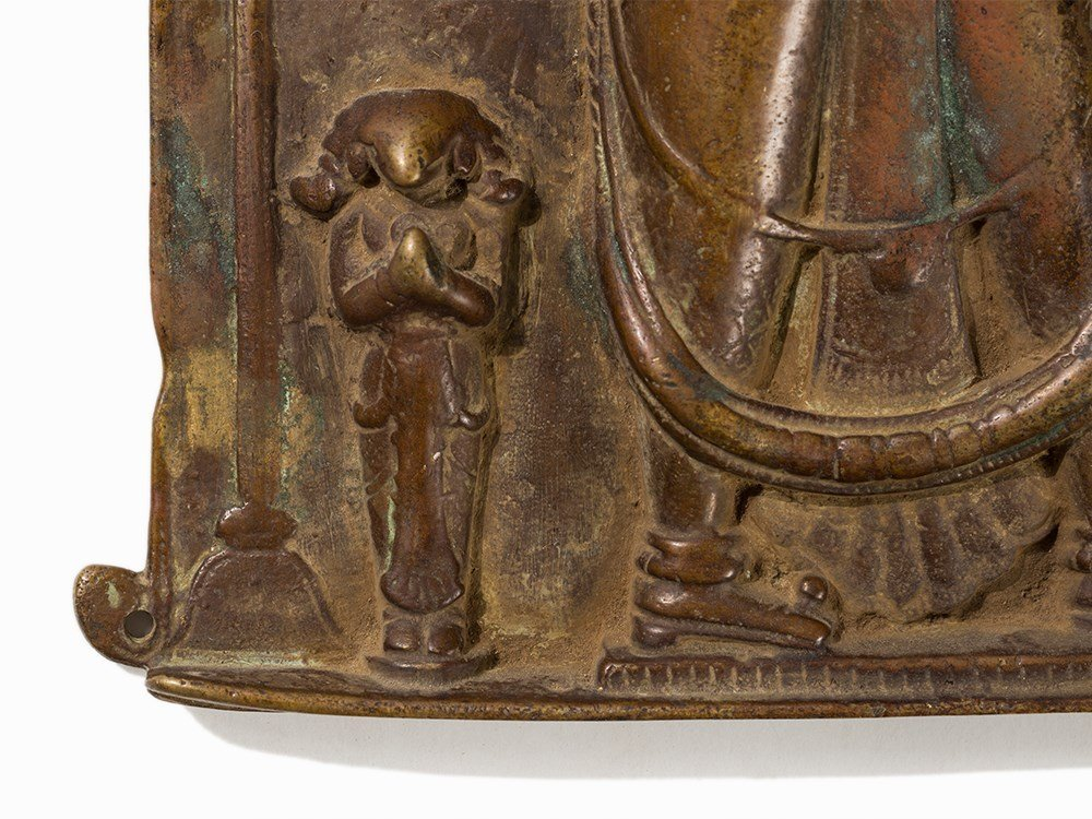 Bronze Relief with Depiction of Shiva, India, 18th/19th - 7