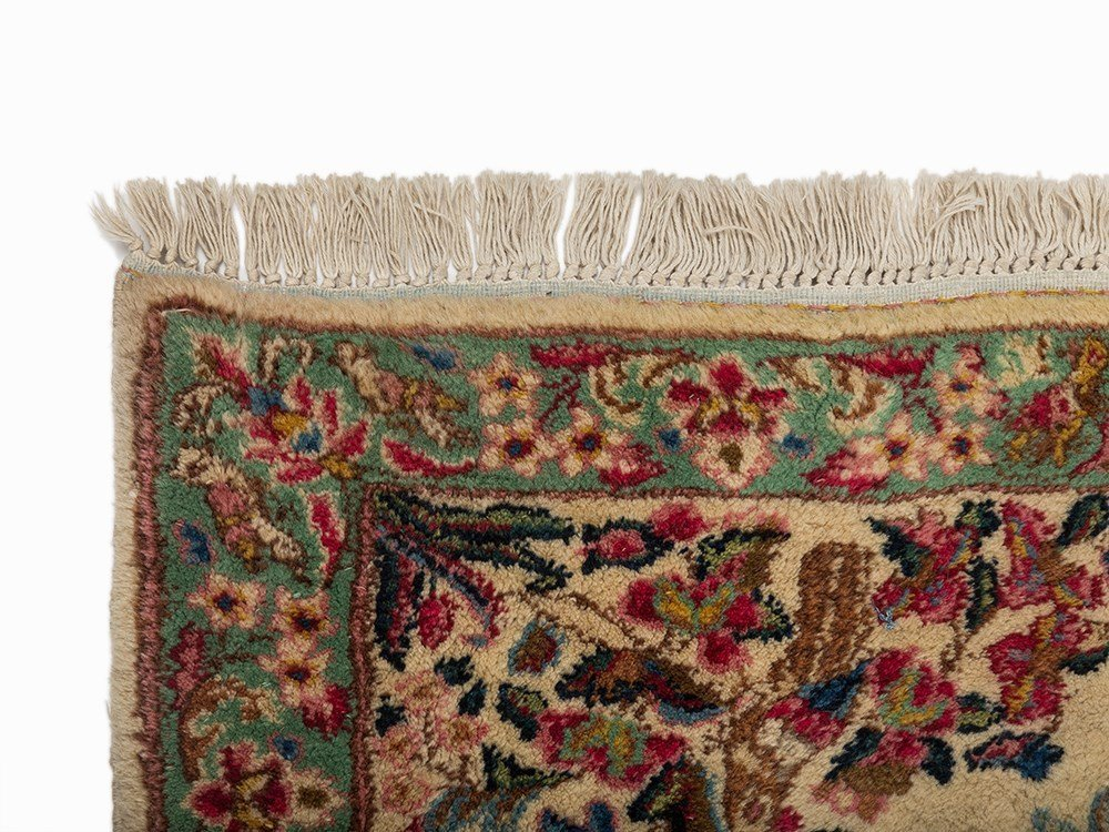 Persian Lawer Rug with a Flower Pattern, Iran - 3