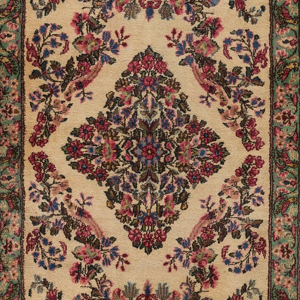 Persian Lawer Rug with a Flower Pattern, Iran - 8
