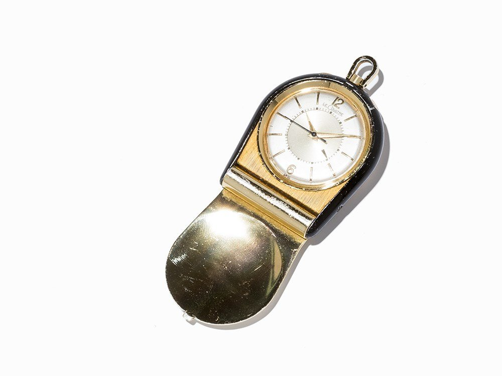 LeCoultre Travel Clock, Switzerland, C. 1960