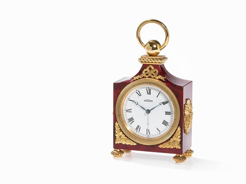 Angelus Table Clock with Alarm, Switzerland, c. 1950