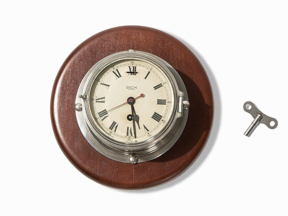Smith Astral Navy Clock, England, c. 1930