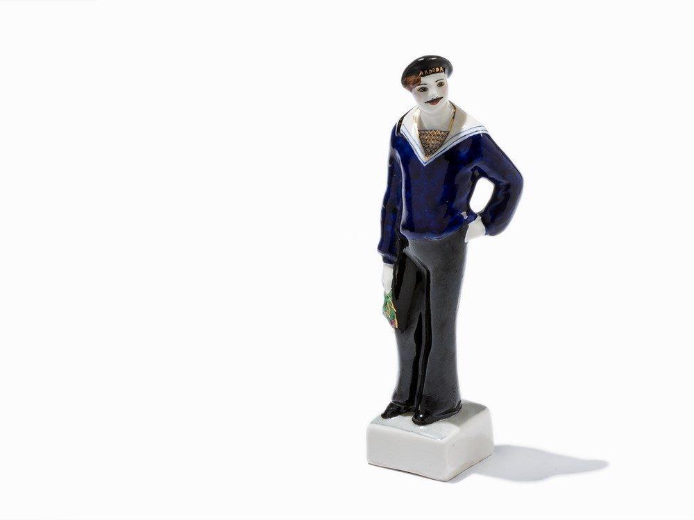 Presumably Lomonosov, Sailor, Porcelain Figure,