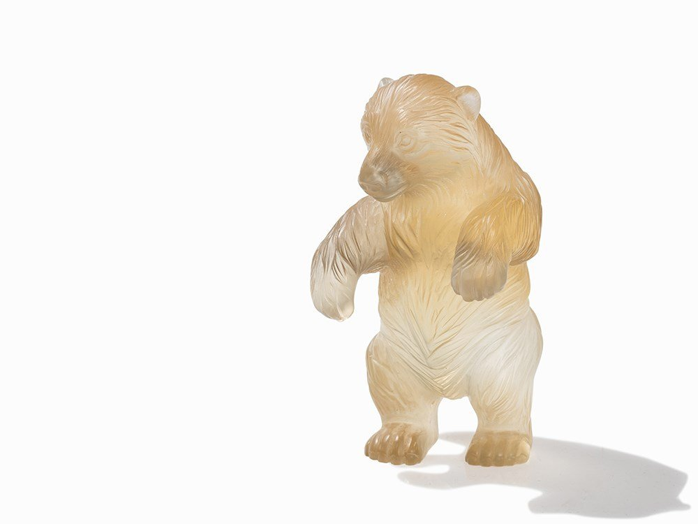 A Citrine Carving of A Grizzly Bear, pres. Russia, c.