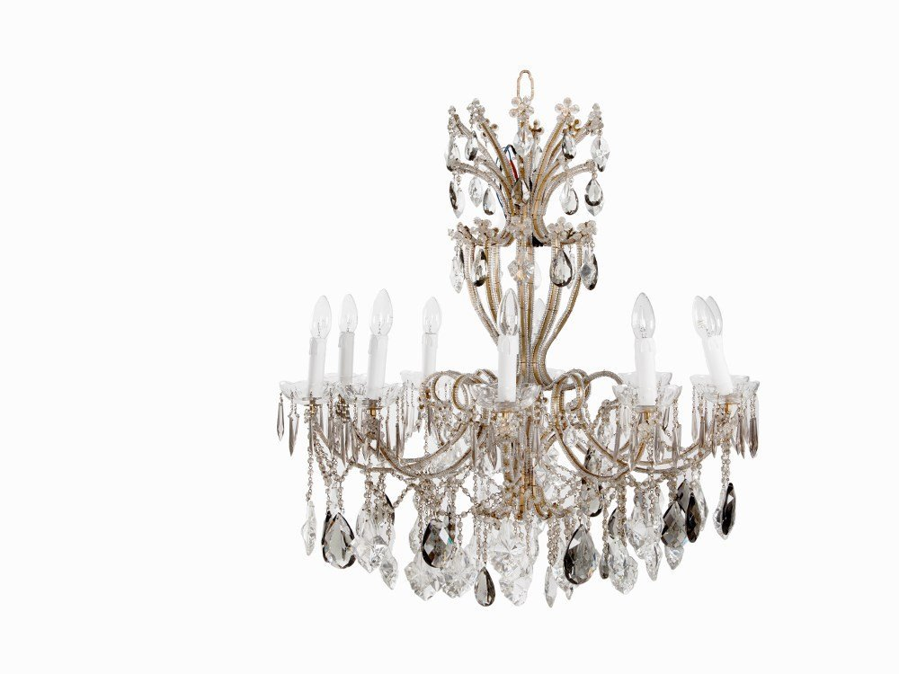 A 10-Flame Chandelier in the Louis XV Style, Italy,