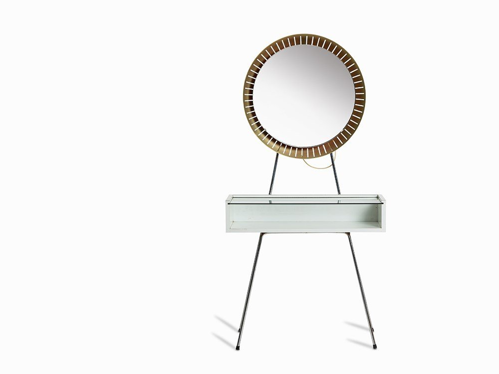 Dressing Tablewith Illuminated Mirror, Italy, 1970/80s