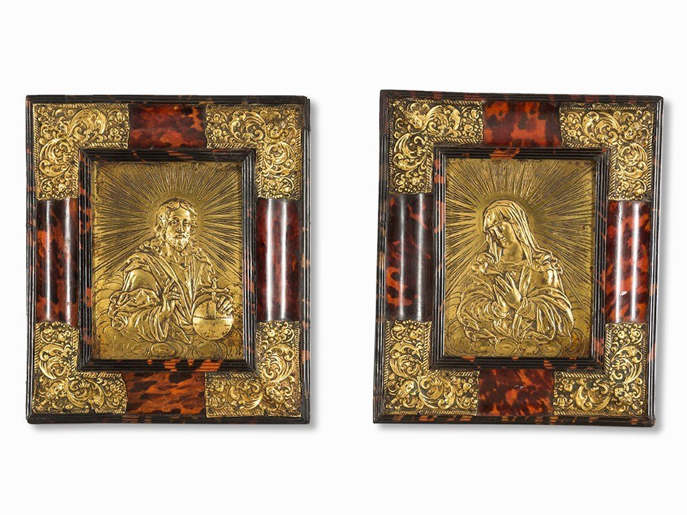 A Pair of Reliefs Mother of God & Pantocrator, 16th C