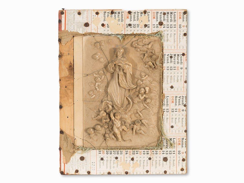 """Alabaster Relief 'Madonna"""", Mecheln, 17th C."""