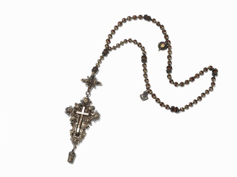 Rosary with Silver Filigree, Schwäbisch Gmünd, 18th C.
