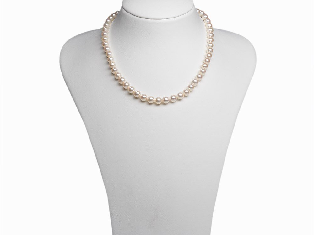 Akoya Pearl Necklace 7.5 - 8 mm with 14 Karat Gold