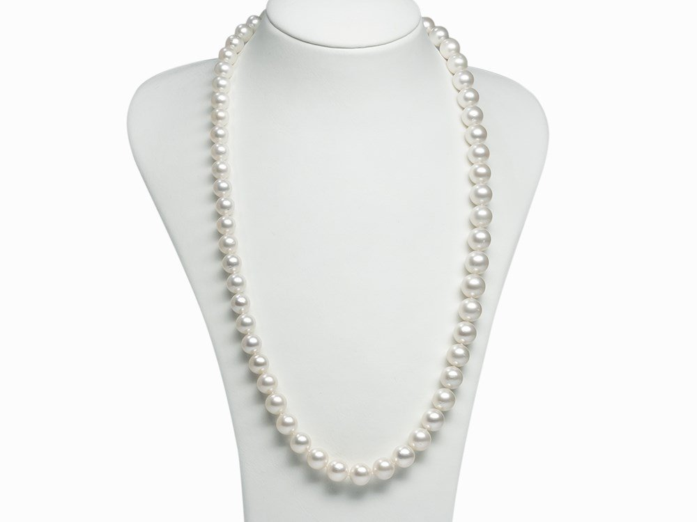 South Sea Pearl Necklace 10.1 - 12.7 mm with Beautiful