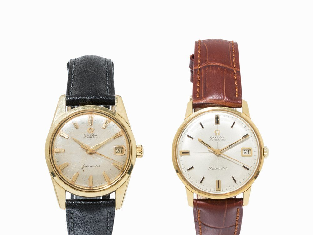 Set of 2 Omega Automatic Seamaster watches, c. 1962 and