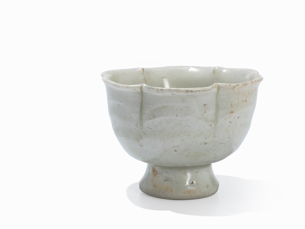 Small Petal-Shaped Dingyao Wine Cup, Song, 11th-13th C.