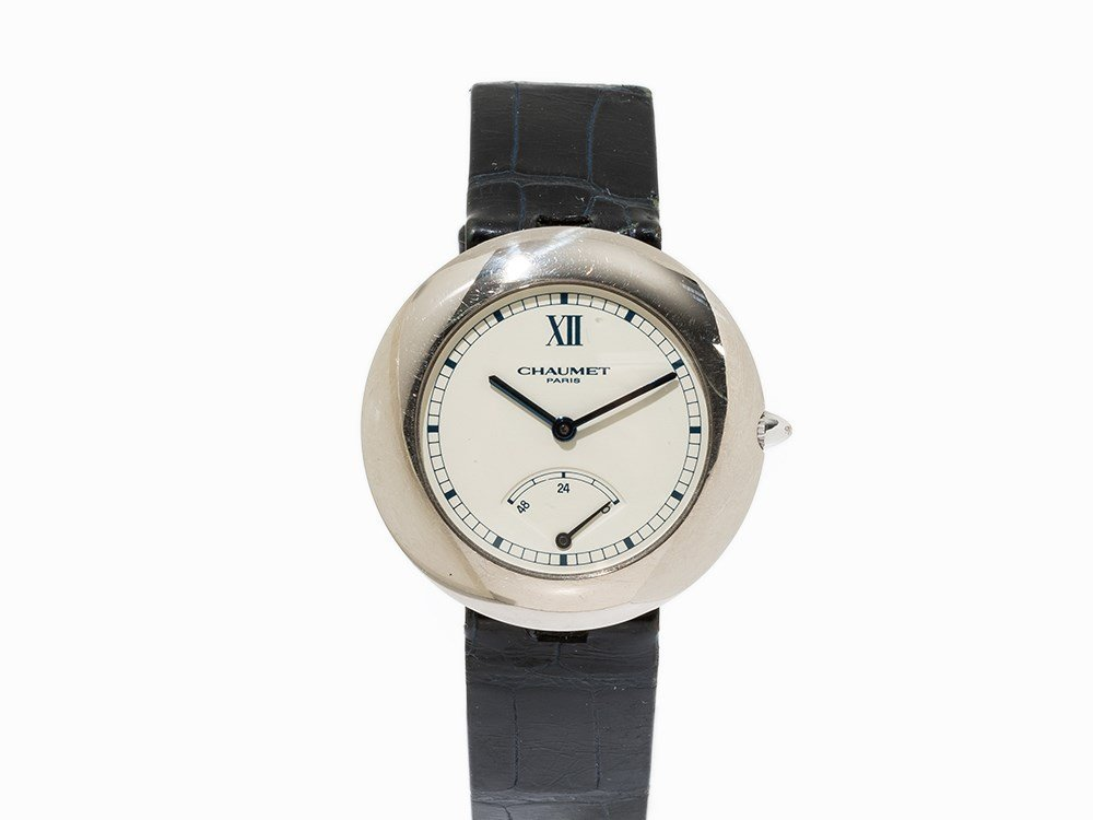 Chaumet Power Reserve Wristwatch, Switzerland, C. 1990