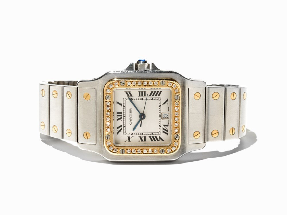 Cartier Santos Wristwatch, Ref. 1566, Switzerland, C.