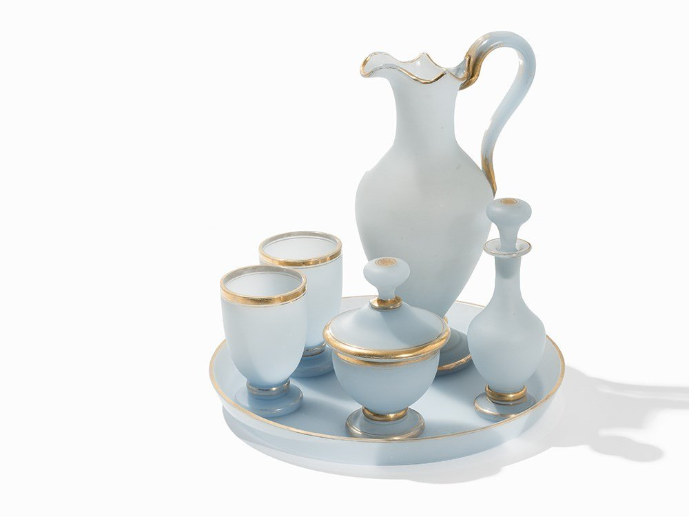 6-Pieces Biedermeier Glass Set, Bohemia, 1840
