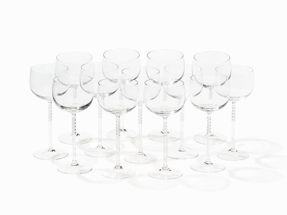 Rosenthal Studio-Line, Set of 13 Bordeaux Glasses, 20th