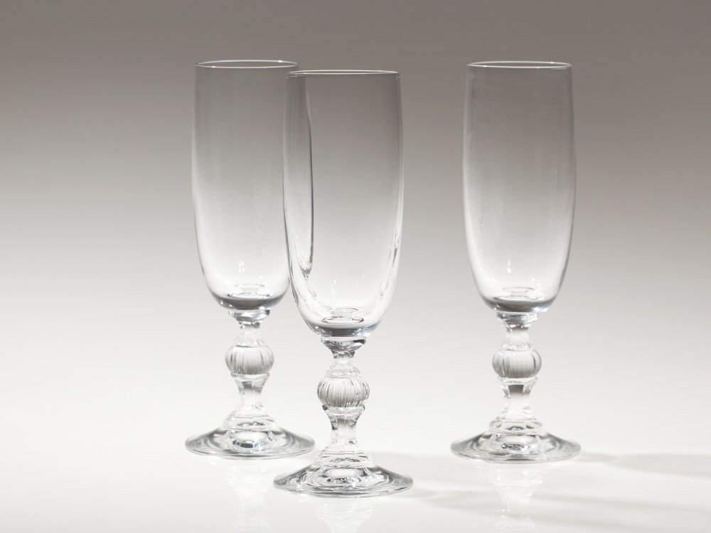 Elegant Set of Three Champagne Glasses, Germany, 20th