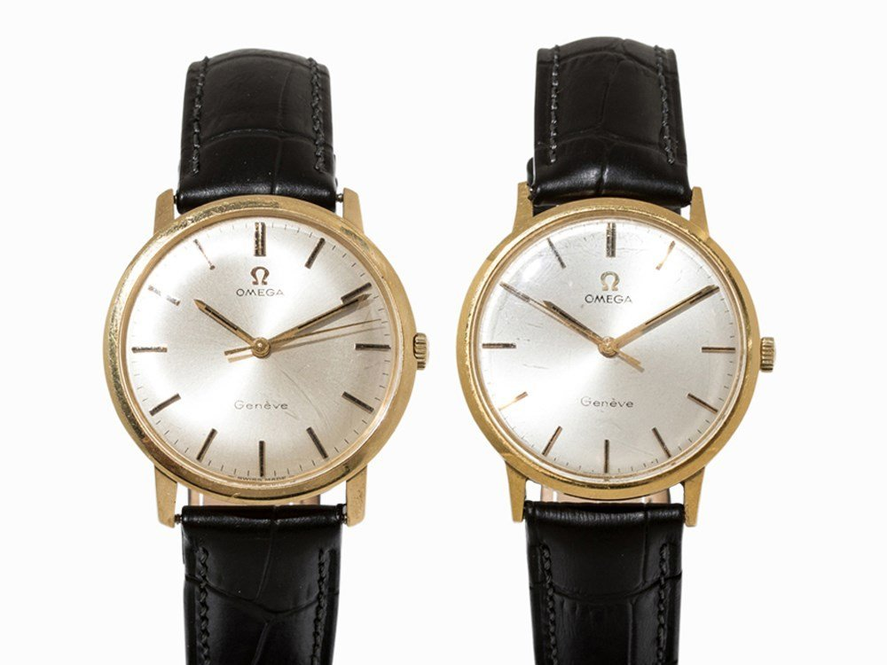 Set of 2 Omega Watches, c. 1970 and 1968