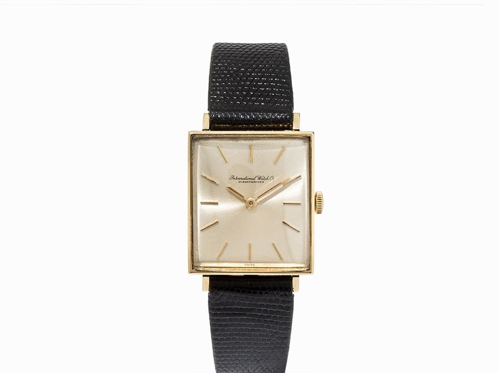 IWC Square Gold Wristwatch, Ref. 1312, C. 1962